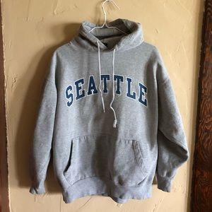 Vintage Seattle WA PNW Hoodie Sweatshirt